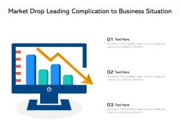 Market Drop Leading Complication To Business Situation