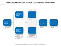 Market Entry Analysis Flowchart With Opportunities And Environment