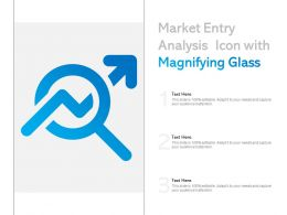 Market Entry Analysis Icon With Magnifying Glass
