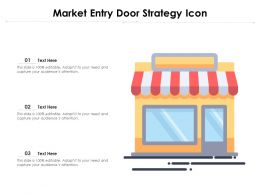 Market Entry Door Strategy Icon