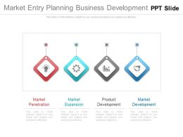 Market Entry Planning Business Development Ppt Slide