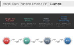 Market Entry Planning Timeline Ppt Example