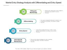 Market Entry Strategy Analysis With Differentiating And Entry Speed