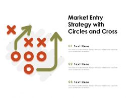 Market Entry Strategy With Circles And Cross
