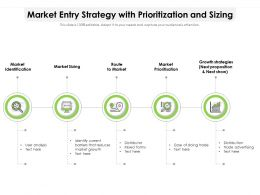 Market Entry Strategy With Prioritization And Sizing
