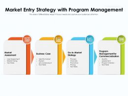 Market Entry Strategy With Program Management