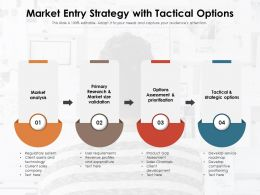 Market Entry Strategy With Tactical Options