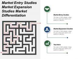 Market Entry Studies Market Expansion Studies Market Differentiation