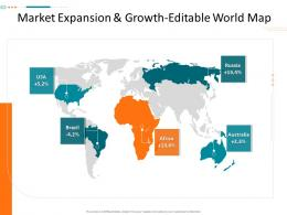 Market Expansion And Growth Editable World Map Corporate Tactical Action Plan Template Company