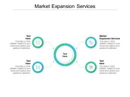 Market Expansion Services Ppt Powerpoint Presentation Infographic Template Design Templates Cpb