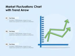 Market Fluctuations Chart With Trend Arrow