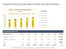 Market Forecast Calculation Sheet With Growth Rate