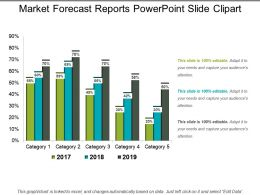 Market Forecast Reports PowerPoint Slide Clipart