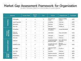Market Gap Assessment Framework For Organization