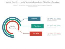 Market Gap Opportunity Template Powerpoint Slide Deck Template