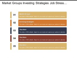 Market Groups Investing Strategies Job Stress Leadership Skill