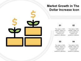 Market Growth In The Dollar Increase Icon
