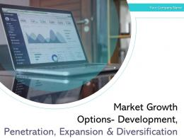 Market Growth Options Development Penetration Expansion And Diversification Powerpoint Presentation Slides