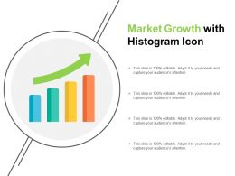 Market Growth With Histogram Icon
