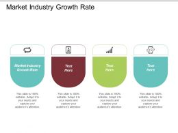 Market Industry Growth Rate Ppt Powerpoint Presentation Infographic Template Influencers Cpb