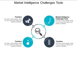 Market Intelligence Challenges Tools Ppt Powerpoint Presentation Gallery Example File Cpb