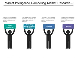 Market Intelligence Compelling Market Research Findings Personal Financial Statements