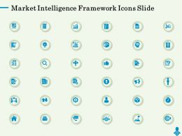 Market Intelligence Framework Icons Slide Ppt Powerpoint Presentation Styles