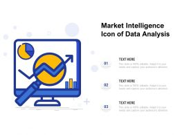 Market Intelligence Icon Of Data Analysis