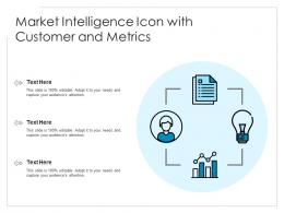 Market Intelligence Icon With Customer And Metrics