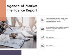 Market Intelligence Report Agenda Of Market Intelligence Report Ppt Ideas