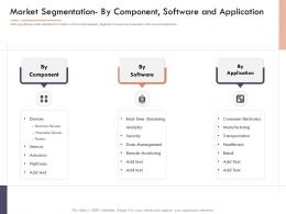Market Intelligence Report Market Segmentation By Component Software And Application Ppt Images