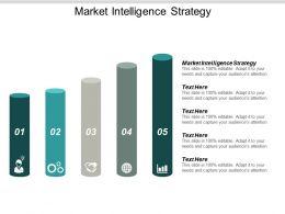 Market Intelligence Strategy Ppt Powerpoint Presentation Summary Graphics Cpb