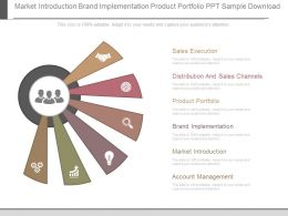 Market Introduction Brand Implementation Product Portfolio Ppt Sample Download