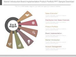 Market Introduction Brand Implementation Product Portfolio Ppt Sample Download