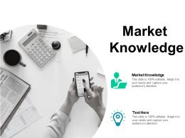 Market Knowledge Ppt Powerpoint Presentation Show Example Introduction Cpb