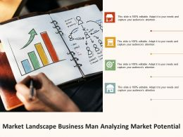 Market Landscape Business Man Analyzing Market Potential