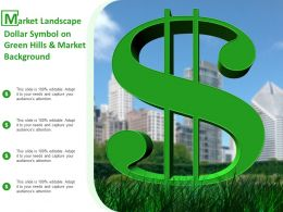 Market Landscape Dollar Symbol On Green Hills And Market Background