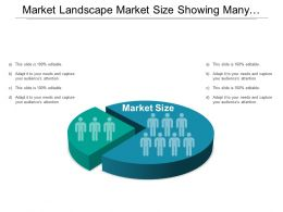 Market Landscape Market Size Showing Many Silhouette Segments