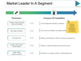 Market Leader In A Segment Ppt Slides Images