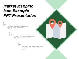 Market Mapping Icon Example Ppt Presentation