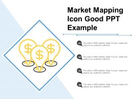 Market Mapping Icon Good Ppt Example