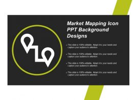 Market Mapping Icon Ppt Background Designs