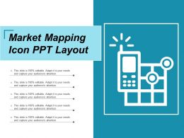 Market Mapping Icon Ppt Layout