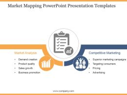 Market Mapping Powerpoint Presentation Templates