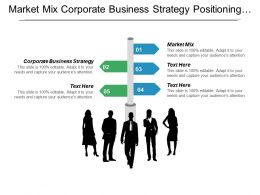 Market Mix Corporate Business Strategy Positioning Strategy Product Cpb