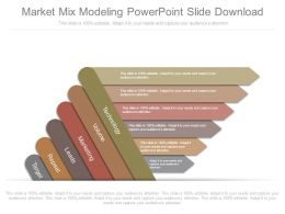 Market Mix Modeling Powerpoint Slide Download