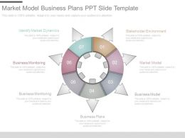 Market Model Business Plans Ppt Slide Template