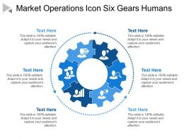 Market Operations Icon Six Gears Humans