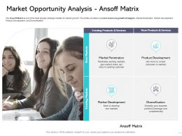 Market Opportunity Analysis Ansoff Matrix Development Ppt Powerpoint Presentation Professional