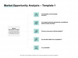 Market Opportunity Analysis Process Success Ppt Powerpoint Presentation Layouts Deck